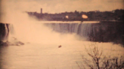 Ladies Enjoying Niagara Falls 1958 Vintage 8mm film Footage