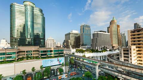 Timelapse Bangkok City Skyline Stock Video Footage