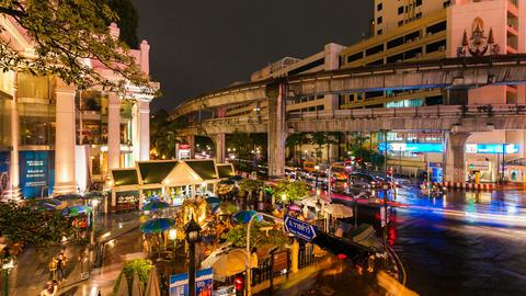 Timelapse - Erawan temple in Bangkok Stock Video Footage