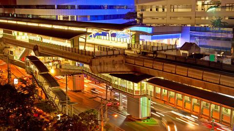 Timelapse - Ekkamai BTS station in Bangkok Footage