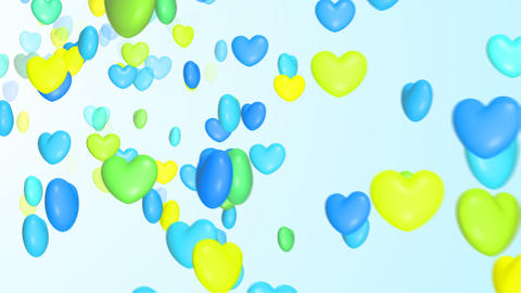 Colorful heart CG動画