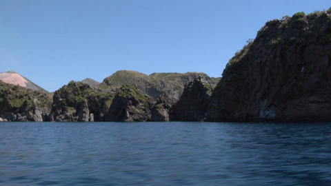 eolian island coast 01 Stock Video Footage