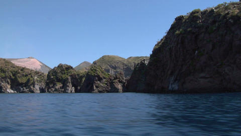 eolian island coast 01 Stock Video Footage
