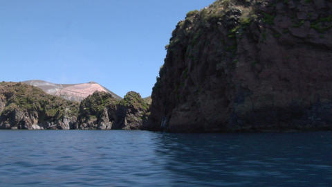 Eolian Island Coast 01 stock footage