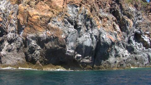 eolian island coast 03 Stock Video Footage