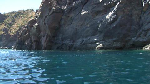 eolian island coast 05 Stock Video Footage