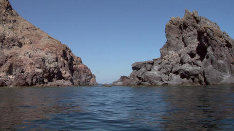 eolian island coast 07 Stock Video Footage