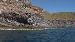 eolian island coast 09 Stock Video Footage