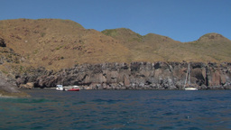 eolian island coast 09 Stock Video Footage