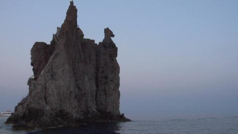 eolian island coast 12 Stock Video Footage