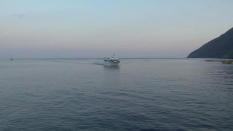 eolian island sea 03 Stock Video Footage