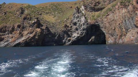 eolian island sea wake 03 Stock Video Footage