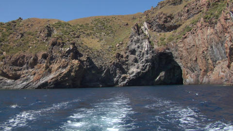 eolian island sea wake 03 Stock Video Footage