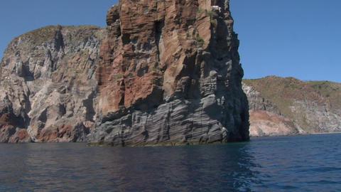 eolian island tourist boat 05 e Stock Video Footage