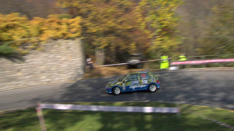 rally track 01 Stock Video Footage