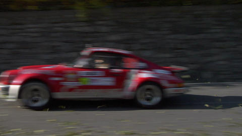 rally vintage 01 Stock Video Footage