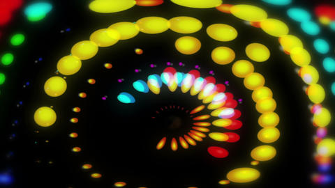 Lucy - Colorful Dots Video Background Loop Stock Video Footage