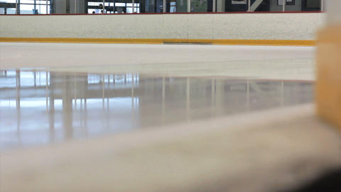 Ice Cleaning Machine Cleans The Rink Stock Video Footage