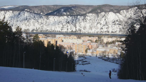 Ski Resort Divnogorsk 01 Footage