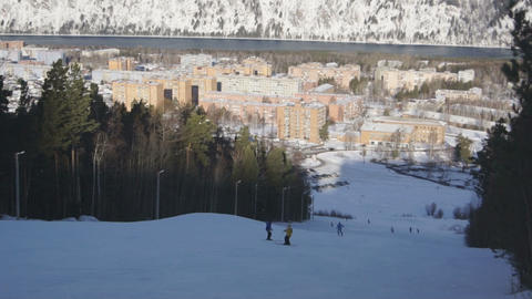 Ski Resort Divnogorsk 03 Stock Video Footage