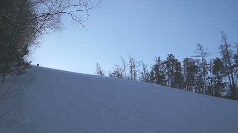 Downhill Skiing 02 Stock Video Footage