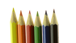 Top of color pencils Footage