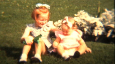 Girls In Their Summer Dresses 1943 Vintage 8mm Film Stock Video Footage