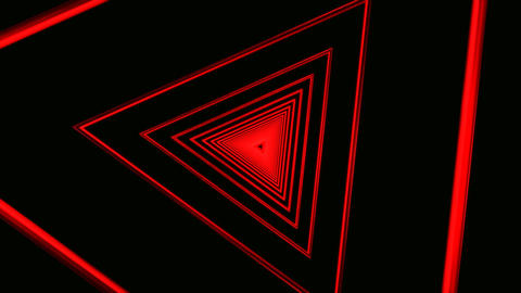 red triangle rotation Stock Video Footage