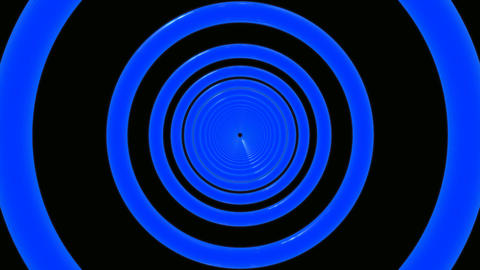 blue rings tunnel Animation