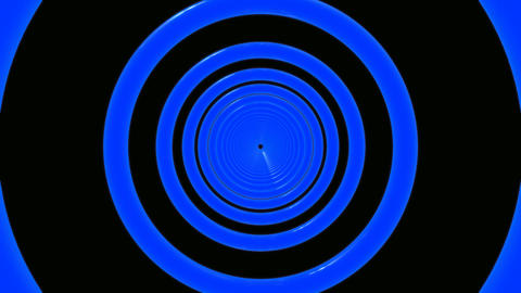blue rings tunnel Stock Video Footage