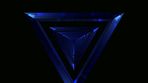triangle glass tunnel Animation