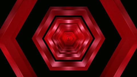 hexagon glass tunnel Stock Video Footage
