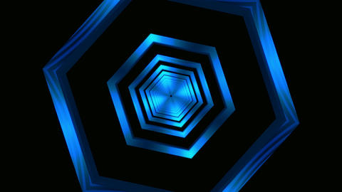 hexagon frame tunnel Stock Video Footage