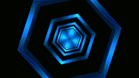 hexagon frame tunnel Animation