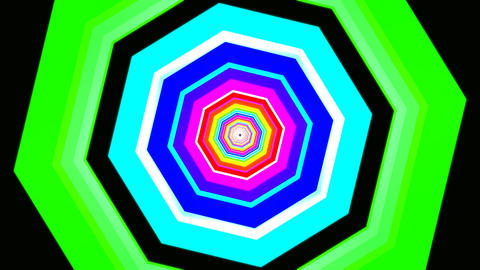 hexagon rotating tunnel Stock Video Footage