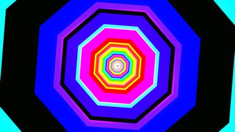 hexagon rotating tunnel Stock Video Footage