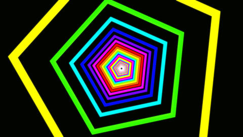 pentagon rainbow tunnel Animation