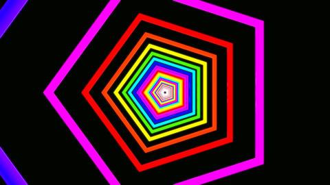 pentagon rainbow tunnel Stock Video Footage