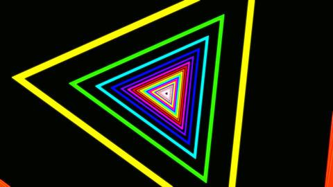 triangle rainbow tunnel Stock Video Footage