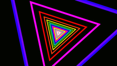 triangle rainbow tunnel Stock Video Footage