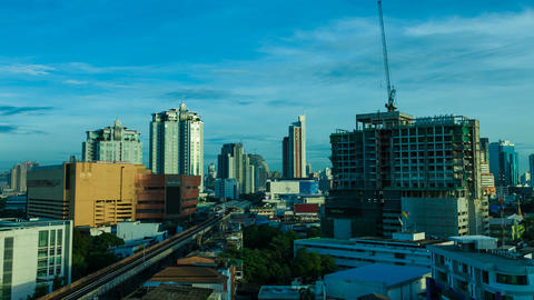 Time Lapse - Bangkok city at Sunrise Stock Video Footage