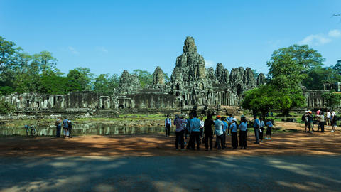 Bayon temple, Cambodia Stock Video Footage
