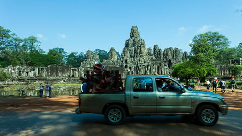 Bayon Temple, Cambodia stock footage