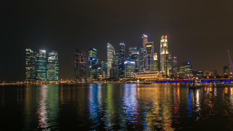 Timelapse - Singapore Marina Bay City Skyline Footage
