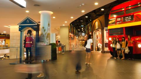 Bangkok Shopping mall Timelapse Terminal 21 Stock Video Footage