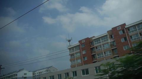 Real estate construction site.Altocumulus cloud in blue... Stock Video Footage