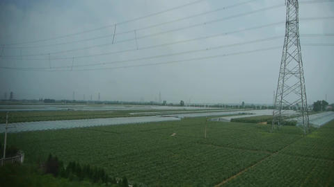 Villages plains tree crops farmland in rural... Stock Video Footage