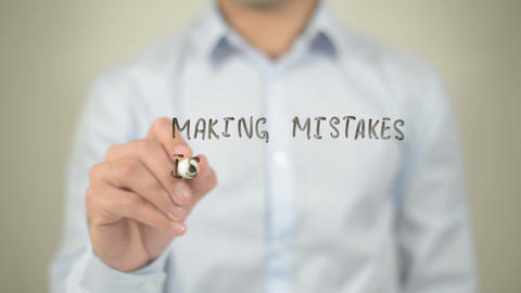 Making Mistakes Is Better Than Fake Perfection,man writing on transparent screen Footage