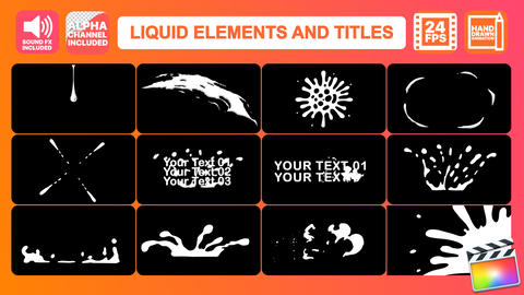 Liquid Motion Elements And Titles Apple Motion Template
