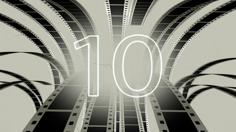 Countdown damaged film Animation